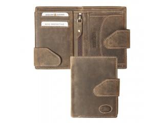 Unisex Geldbörse mit Lasche, RFID